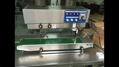 tabletop vertical band sealing machine plastic bag band sealer equipment youtube