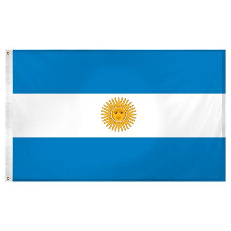 argentina flag 3ft x 5ft knit polyester