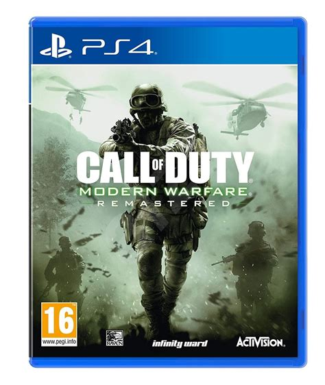 call  duty modern warfare remaster ps console game