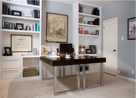 Built In Shelving And Desks
