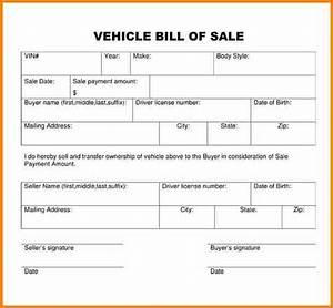 Bill Of Sale Generic Bill Of Sale For Car Generic Bill Of