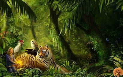 Jungle Background Wallpapers Animated Awesome Animal Computer