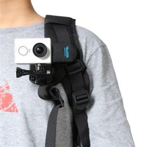 telesin backpack clip clamp mount gopro hero