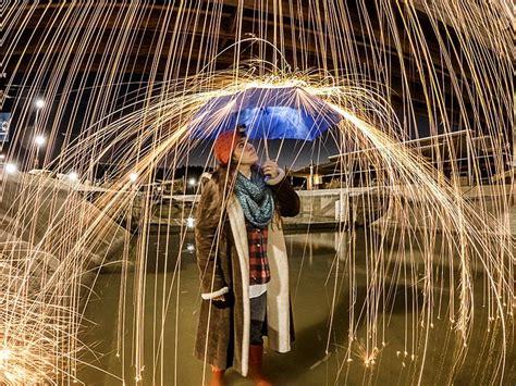 create  capture fire rain  night lapse