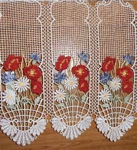 Rideau Macramé Au Mètre : rideau brise bise macrame au metre en couleur de caudry ~ Teatrodelosmanantiales.com Idées de Décoration