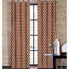 rust palais grommet top curtain panel jcpenney