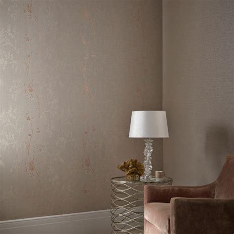 arthouse orabella tree glitter wallpaper  rose gold