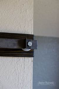 diy barn door track tutorail baby rabies roland With barn door track stop