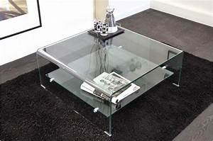 Table Basse Carrée Design : table basse carr en verre ottawa design sur sofactory ~ Teatrodelosmanantiales.com Idées de Décoration