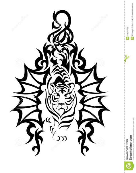 Vector Illustration Tattoo - Tiger Stock Vector - Illustration of illustration, back: 11030393
