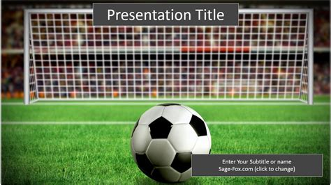 soccer template free soccer powerpoint template 6493 sagefox powerpoint templates