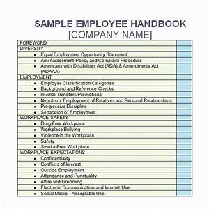 Employee Handbook Template Word In 2020