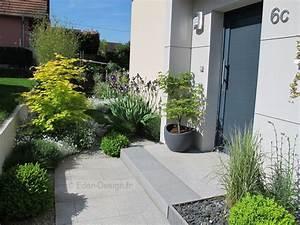 devant de maison amenagement moderne avec escalier en With amenagement exterieur maison contemporaine 1 creation de jardin alsace paysagiste alsace jardin