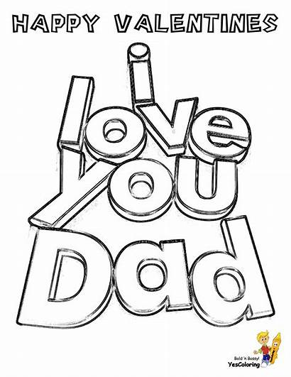 Coloring Pages Valentines Valentine Dad Boys Fathers