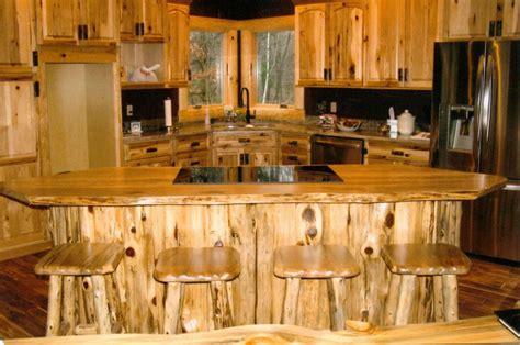 rustic cedar kitchen cabinets rustic log kitchen bath