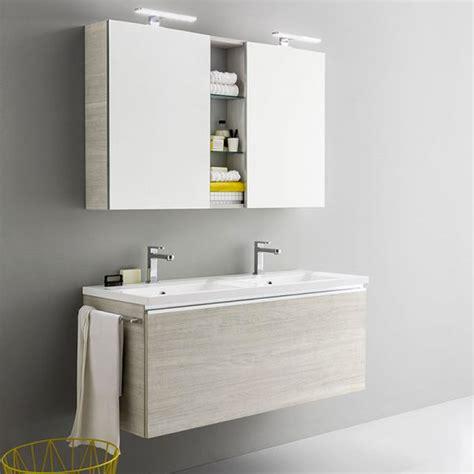 vasca da bagno mobile mobile da bagno sospeso moderno con doppia vasca da cm