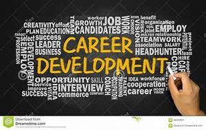 Career Development With Related Word Cloud Hand Drawing On