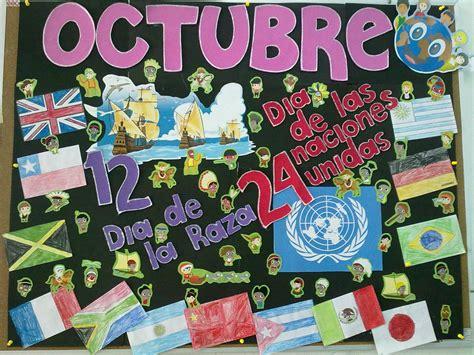 mural octubre bulletin board efemerides periodico mural octubre periodico mural y murales