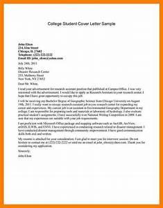 6 sample student cover letter