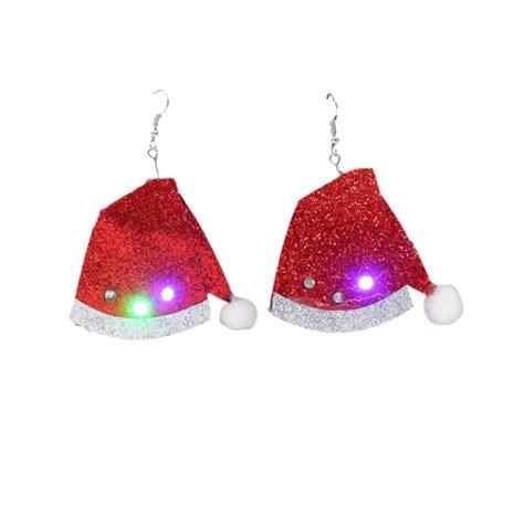 christmas led light up flashing earrings xmas costume