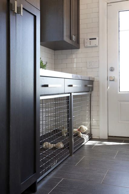 Side Entrance with Built in Dog Bed and Crate