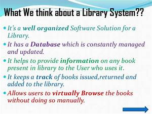 Library Management System Ppt