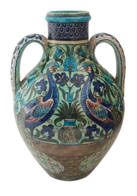 william de morgan pottery persian amphora vase anita