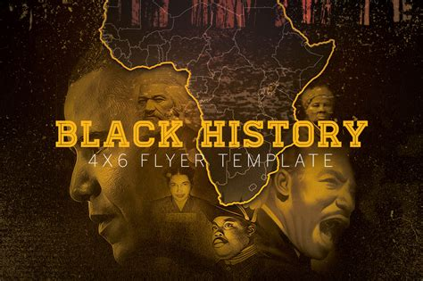 history powerpoint template black history flyer template flyer templates on creative market
