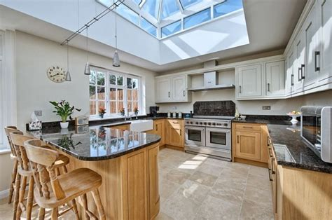wooden kitchen flooring crossfields transitional kitchen hertfordshire by 1169