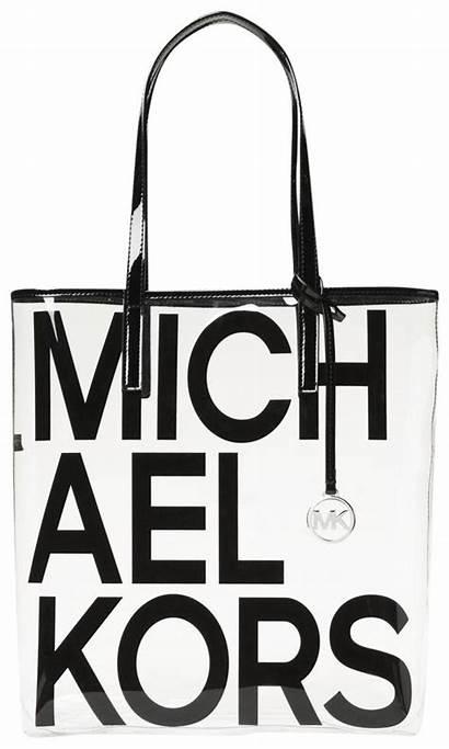 Kors Michael Tote Bag Clear Graphic Plastic