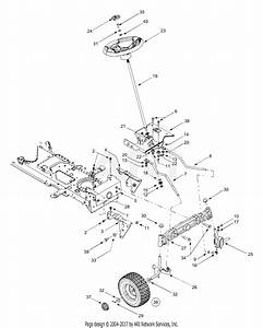 Mtd 13bt604g452  2003  Parts Diagram For Axle  Wheels Front  Steering