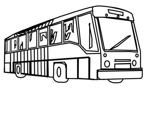 bus coloring pages clipart
