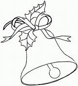 Bells Bell Coloring Christmas Pages Printable Jingle Drawing Drawings Templates Para Colorear Popular Mistletoe sketch template
