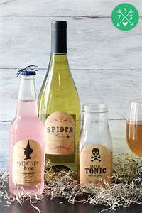 diy halloween bottle labels inspiration made simple With homemade bottle labels