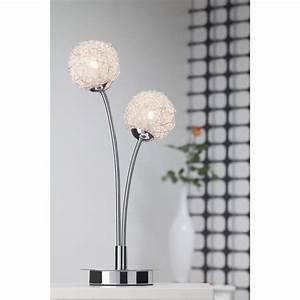 Lampe De Chevet Boule : belis lampe poser 2 lumi res boule en m tal d cor achat vente belis lampe poser 2 ~ Teatrodelosmanantiales.com Idées de Décoration