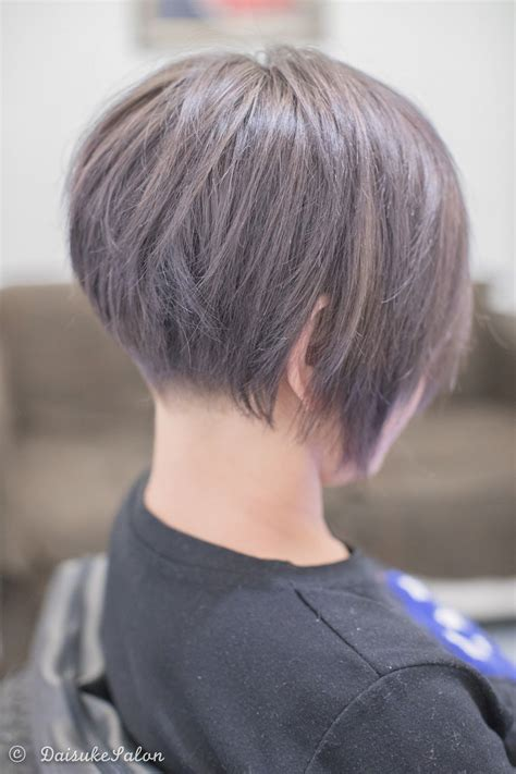 concave bob with ash brown she had dark colour before so
