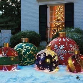 giant outdoor christmas ornaments wood yard art