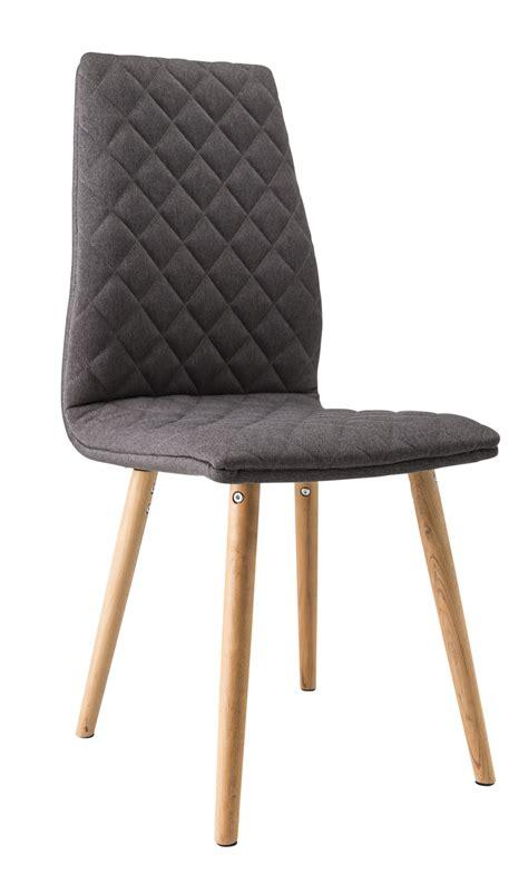 chaise salle a manger contemporaine chaise de salle à manger contemporaine bois tissu coloris gris lot de 2 jecco salle à