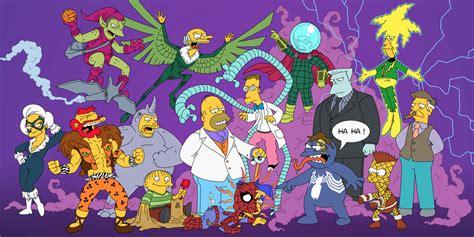 simpsons characters  spider man villains fan art