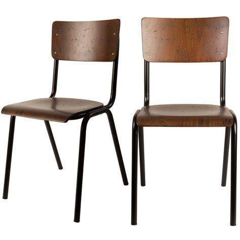 chaise bois metal chaise vintage métal bois écolier scuola by drawer fr