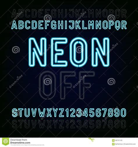 neon light letters font blue neon light alphabet font two different styles