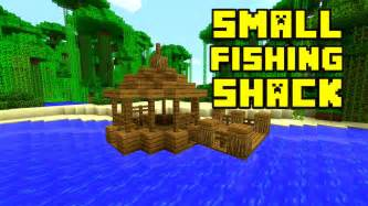 minecraft fishing build dock hut shack survival amazing
