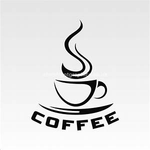 coffee cup cafe lettering window sticker for catering outlets With letter decals for cups