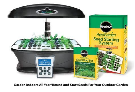 garden starter kit miracle gro aerogarden ultra indoor garden starter kit on