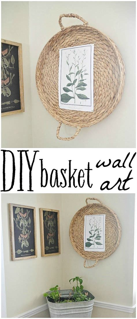 Enjoy free shipping on most stuff purchase multiple woven pieces of wall decor and create a collage of unique and amazing decorative pieces. DIY Basket Wall Art - Liz Marie Blog