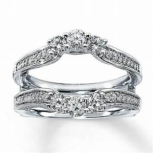 jared diamond enhancer ring 1 ct tw round cut 14k white gold With ring enhancers wedding