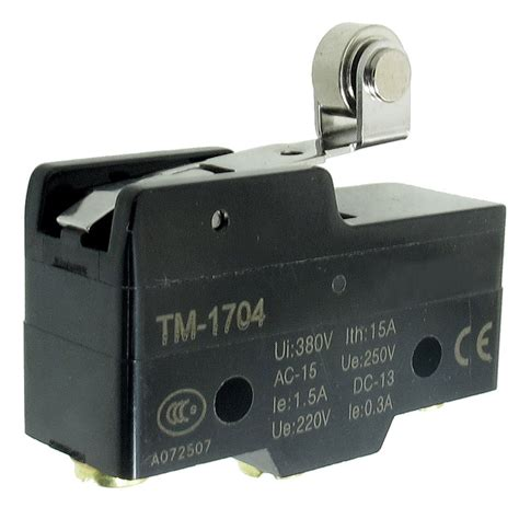 Tm 1704 Short Hinge Roller Lever Momentary Micro Limit