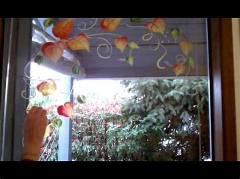 Fenster Bemalen Herbst by Window Painting Fall Leaves Border Tutorial