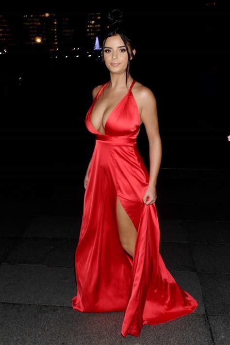 demi rose mawby beauty magazine awards celebsfirst ok london bikini arriving beach horse cape verde pink comments