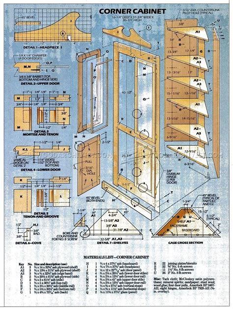 classic corner cabinet plans woodarchivist